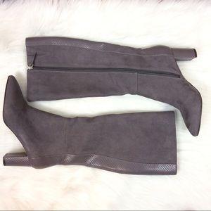 New Isaac Mizrahi Grey Suede Boots 7